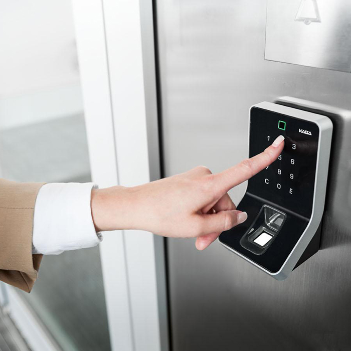 Finger Pressing Keypad Access Control